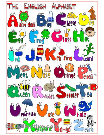 Alphabet Words Worksheets on A Z Handwriting Letters Words Kids